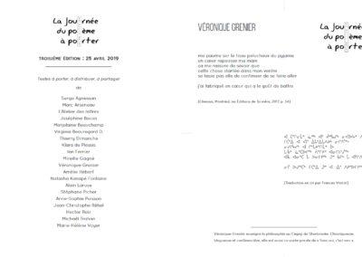 Livret de la Journée du poème à porter 2019